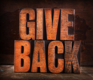 Give back in words