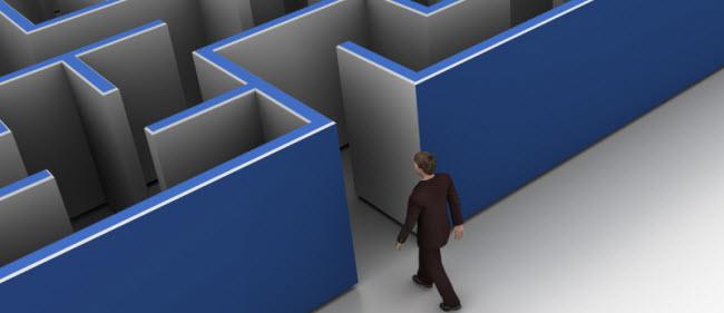 man entering a maze