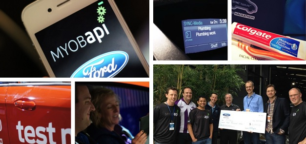 MYOB team at the Ford Hack-A-Thon