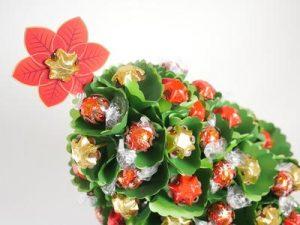 Edible blooms Christmas tree