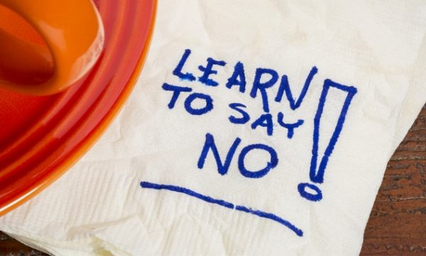 Business management and knowing when to say no