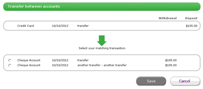 how to delete transfers in myob essential