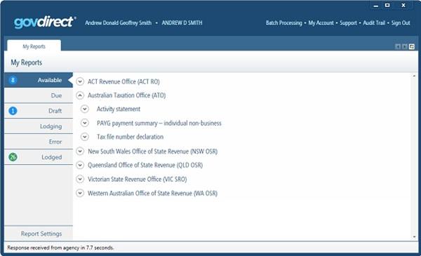 GovDirect MYOB Add-On Solution