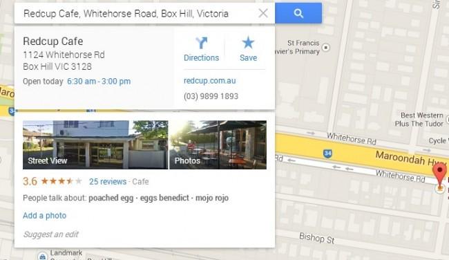 Google Maps user reviews
