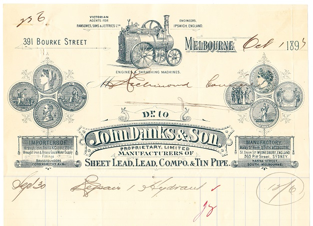Invoice from 1895