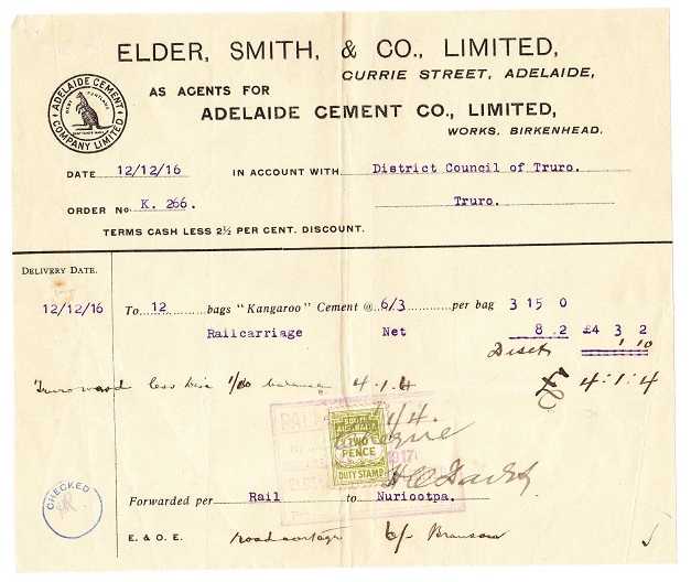 Invoice from 1916