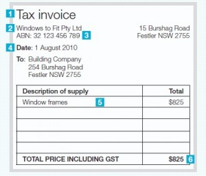 Invoice statement example