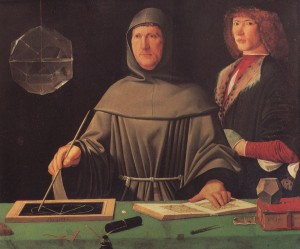 "Luca Pacioli is sometimes called the ""Father of Accounting"" and also wrote books on juggling, magic tricks, and other areas of maths.  An unpublished book he wrote on chess was uncovered in 2006 and may have been illustrated by his student, Leonardo da Vinci"