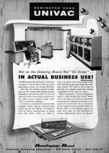 1950s-era magazine ads for the Univac