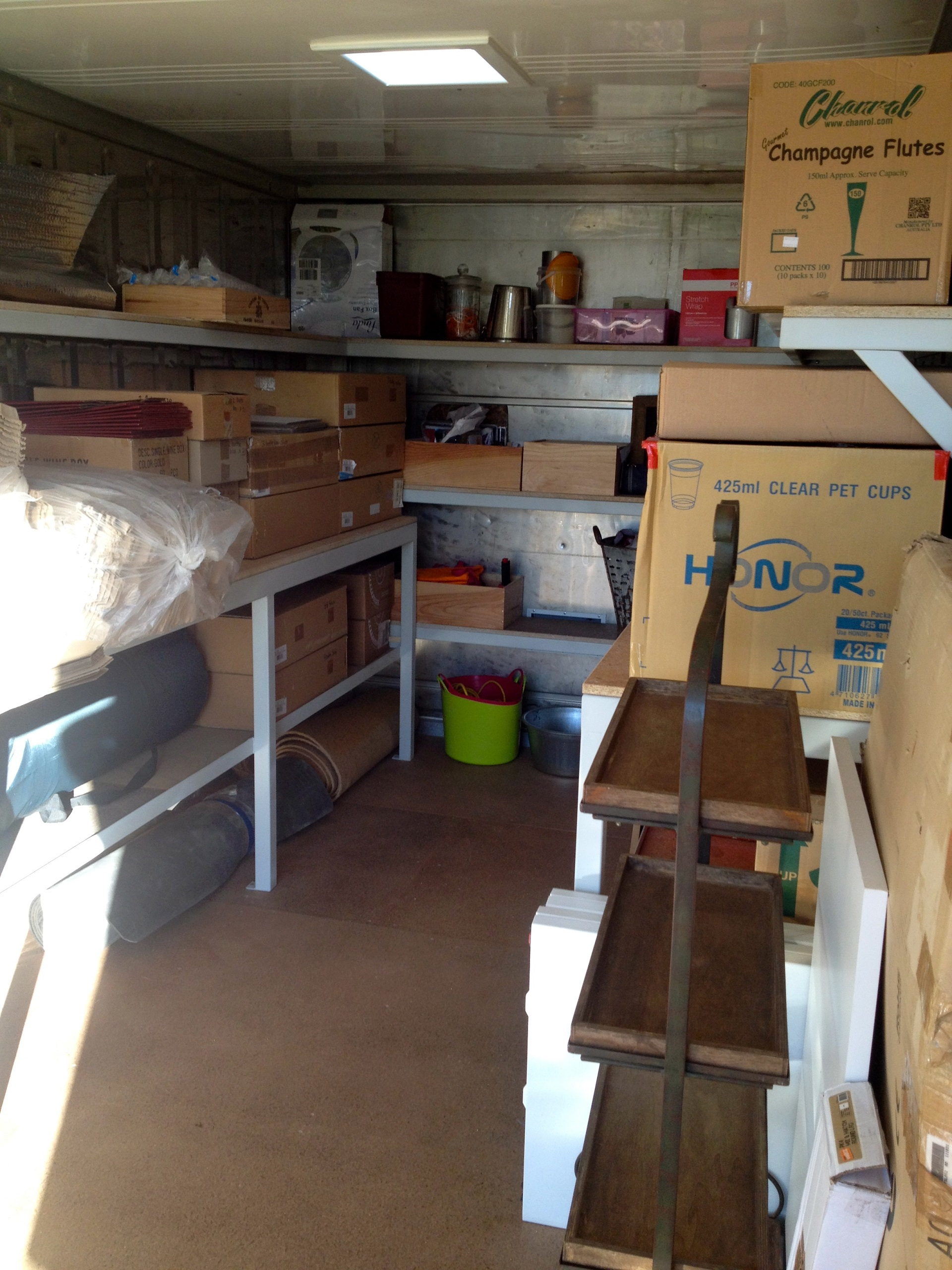 Inside storage unit - blog