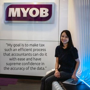 Andrea Ho on her goal at MYOB